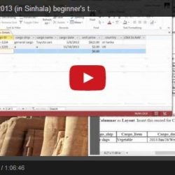 Microsoft Access 2013 Sinhala Video Tutorial