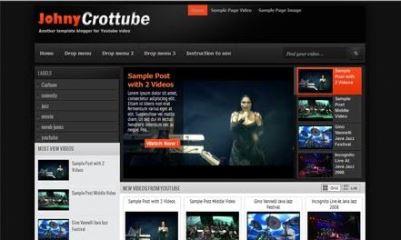 Johny Crottube Video Blogger Template