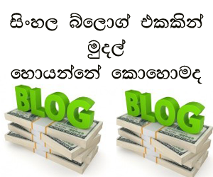 sinhala blog make money