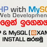 PHP / MySQL Sinhala Video 25 ක්