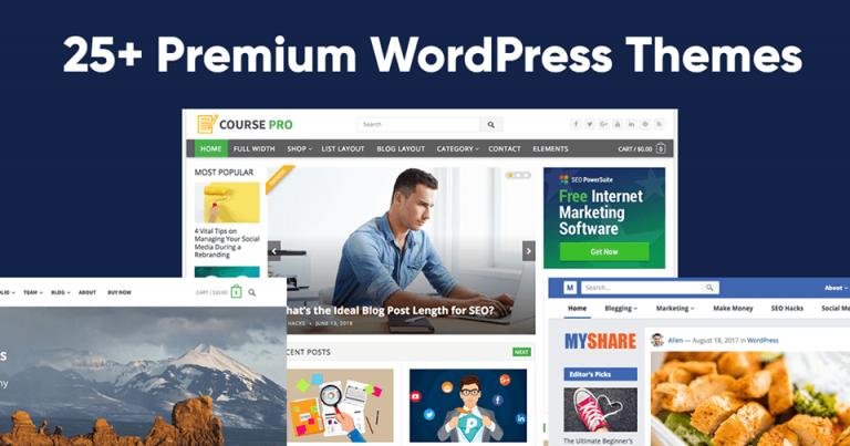 Premium WordPress Themes 25+ රුපියල් 950 කට